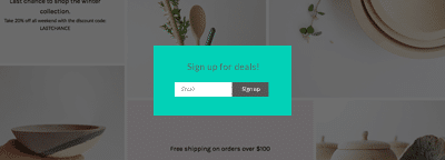 Shopify timed popup