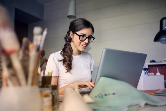 Woman on her Computer
